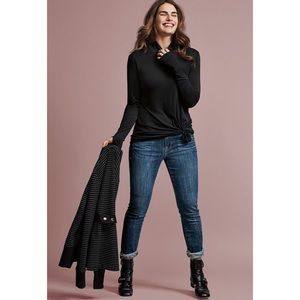 CAbi Dover Skinny Jeans Altered Raw Hem